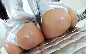 Hawt pornstars with geat rumps anal fucked by large dark..