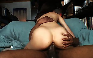 Oriental babe Ariel Rose moaning while getting fucked by a..
