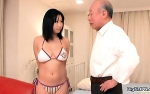 Hot asian babe acquires horny