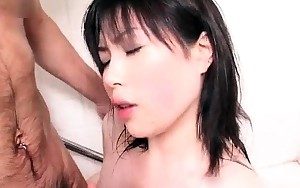 Glamorous face horny asian babe blows