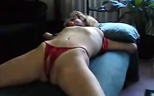 Using my fingers and tool inside her pussy