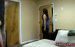 Taboo stepsis striptease and grab
