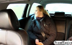 Hawt wife asshole drilled and jizzed on by fraud driver