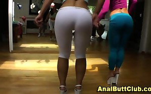 Bendy big ass hotties take up with the tongue