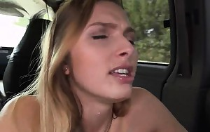 Charming Golden-haired Bent Over And Banged In Backseat Of..