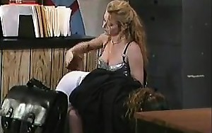 Blonde Wench Spanking A Dude