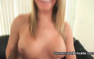 Plump dark rod banging a breasty blonde