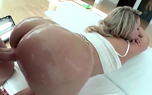 Splendid blonde butt fingered and fur pie smashed