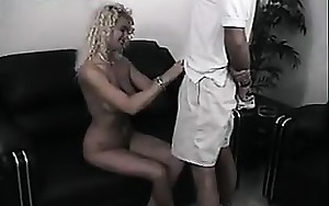 Blond Chick Giving A Great Oral-stimulation