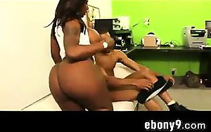 Black Banging On The Worthy White Couch