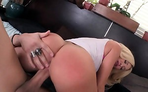 Hot ass blonde fucked in her pink moist cunt