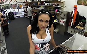 Big tits latin chick blows cock for rentmoney