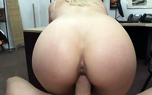 Blond Amateur Fucked On A Desk In Pawn Shop Office
