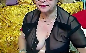Plump Grandmother With Glasses Masturbates