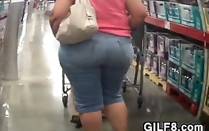 Granny With A Massive Ass At Costco